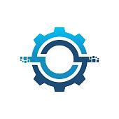 istock Digital Service Logo, Tech Service logo designs template 1211903173