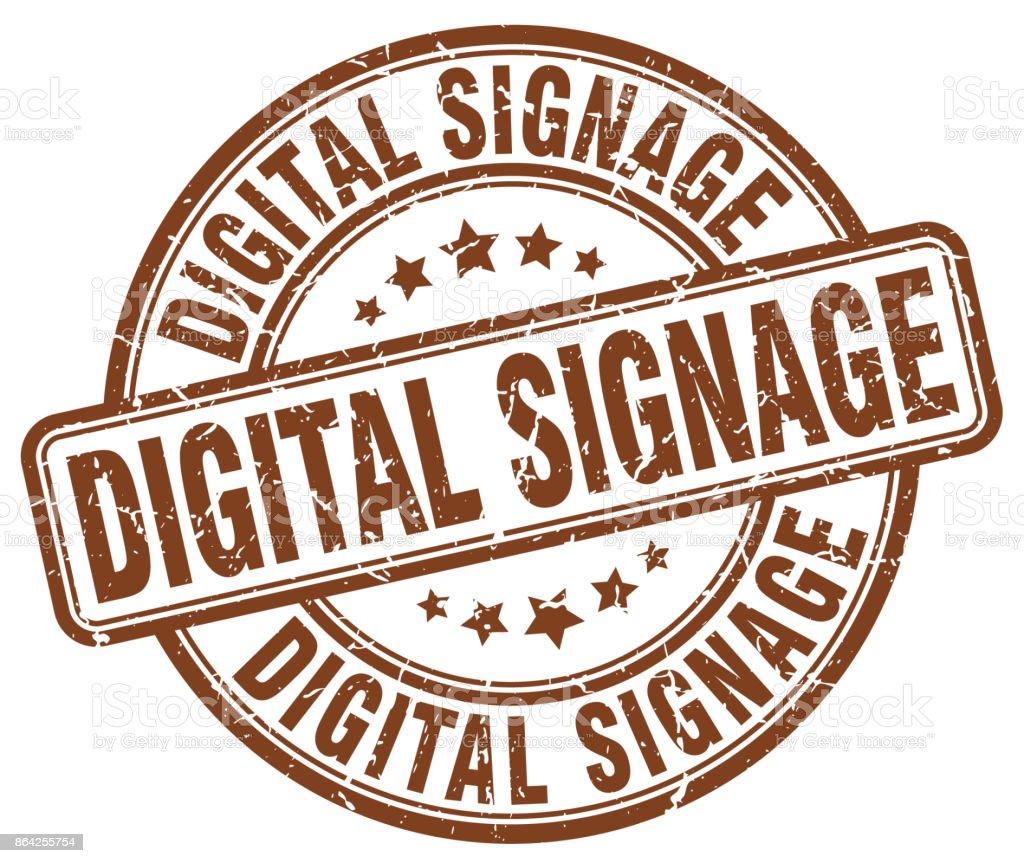digital signage brown grunge stamp royalty-free digital signage brown grunge stamp stock vector art & more images of badge