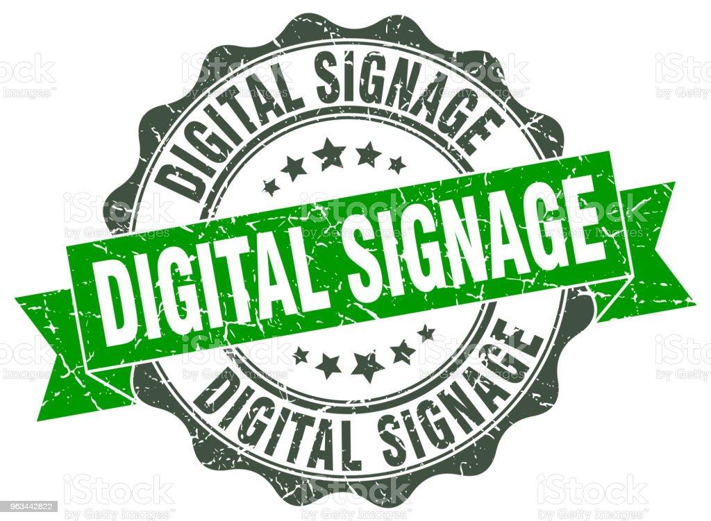 digital signage stamp. sign. seal - Grafika wektorowa royalty-free (Bez ludzi)