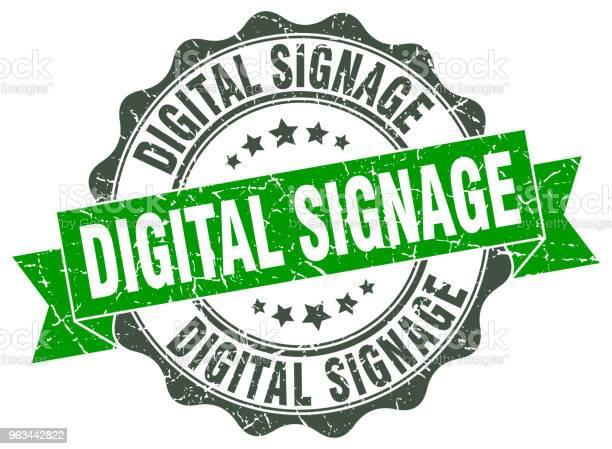 Znaczek Digital Signage Znak Foka - Stockowe grafiki wektorowe i więcej obrazów Bez ludzi