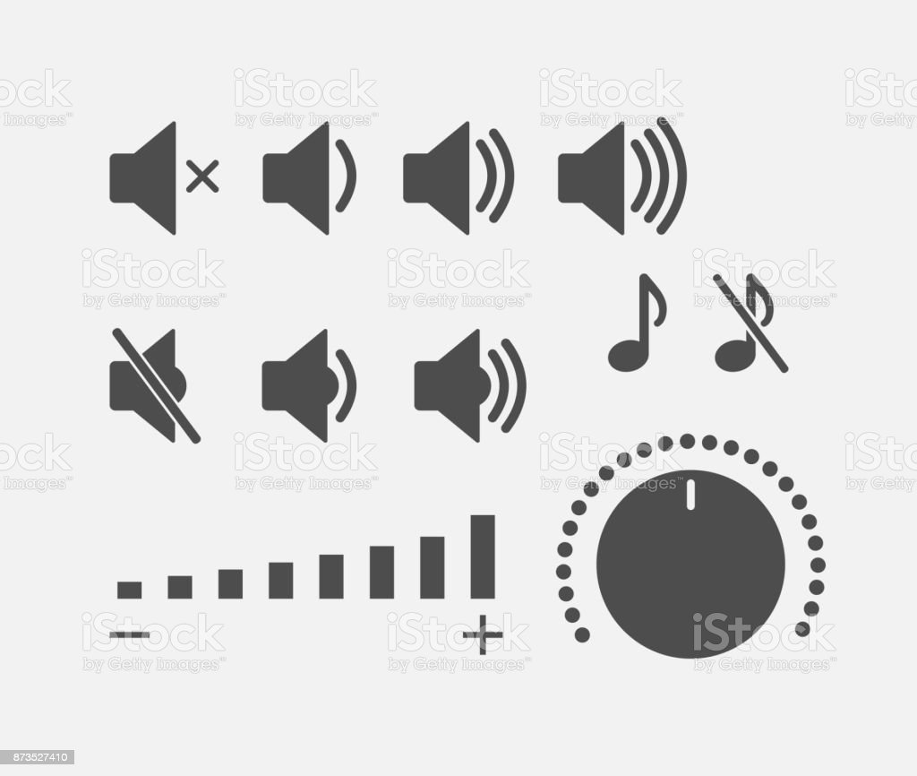 Digital sound controller icons collection vector art illustration