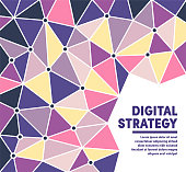 Digital strategy polygon vector background illustration for web banners and presentations and marketing. Modern abstract vector illustration design for your business or campaign.