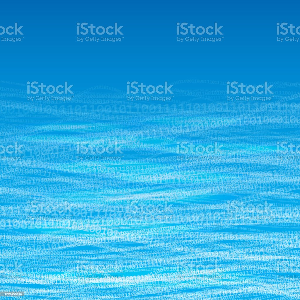 Digital stream vector art illustration