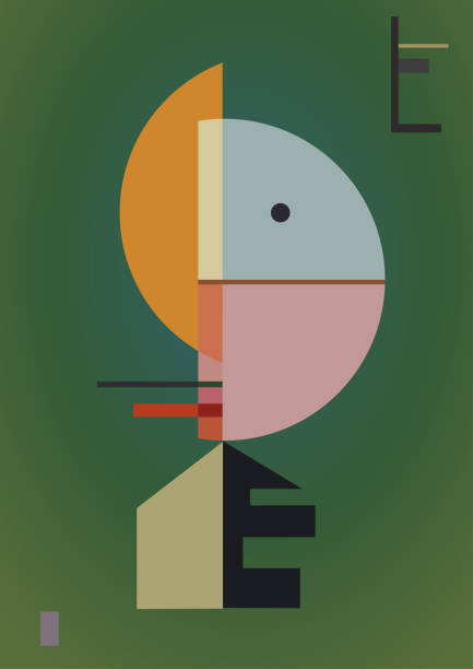 digital style inspired by a painting expressionism art style and geometric. Colorful background digital style inspired by a painting expressionism art style and geometric. Colorful background modern art stock illustrations