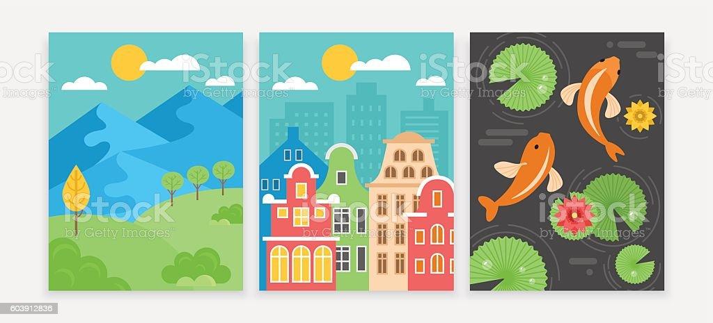 Digital tablet background wallpaper set for games and apps design vector art illustration