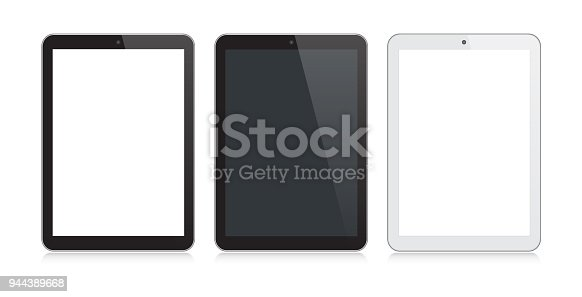 istock Digital Tablet Black and Silver Color with Reflection 944389668