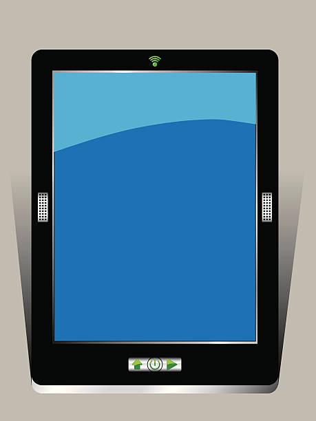 Digital Tablet Computer vector art illustration