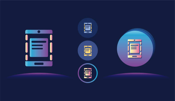 ipad digital tablet icon illustration - ipad stock illustrations