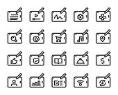 istock Digital Tablet Set 1 - Bold Line Icons 1308545632