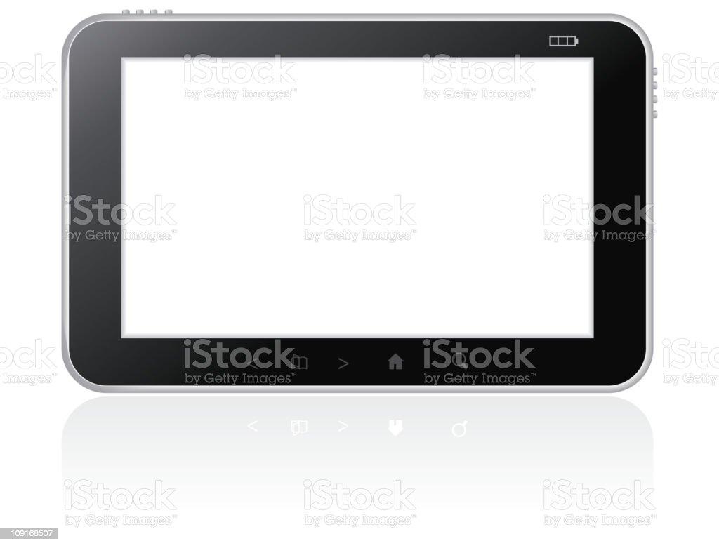 Digital tablet royalty-free stock vector art