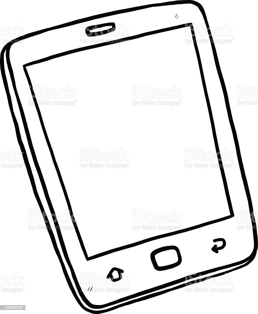 Digital Tablet stock vector art 479463762 | iStock Tablet Clipart Black And White