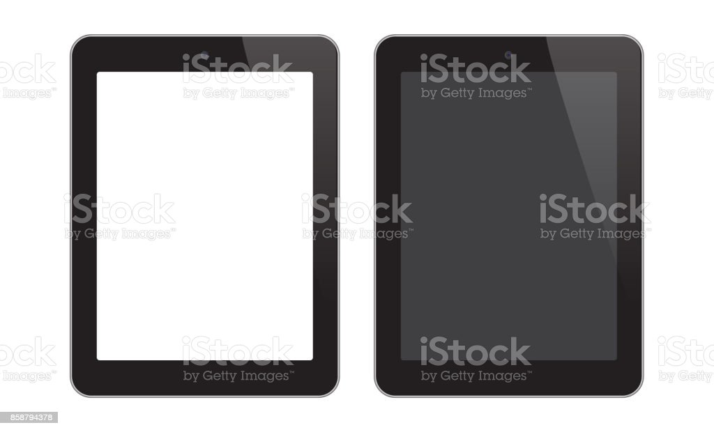 Digital Tablet vector art illustration
