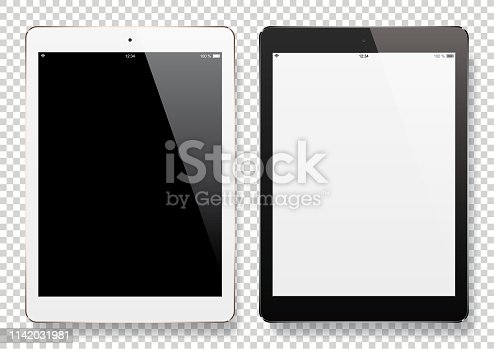 Digital Tablets with blank screen. Eps10 vector illustration with layers (removeable) and high resolution jpeg file included (300dpi).