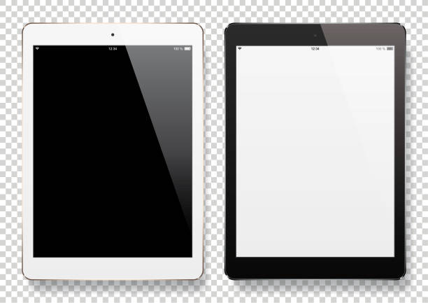 digital tablets with blank screen - tablet stock illustrations