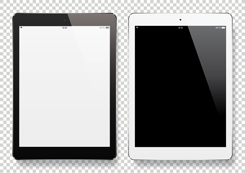Digital Tablets with blank screen