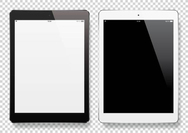 ilustrações de stock, clip art, desenhos animados e ícones de digital tablets with blank screen - tablet