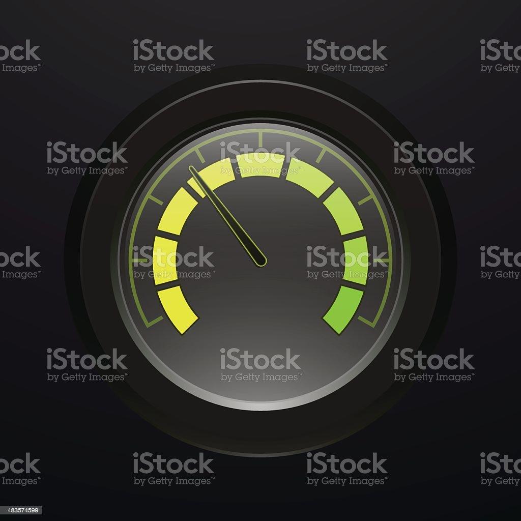 Digital tachometer vector art illustration