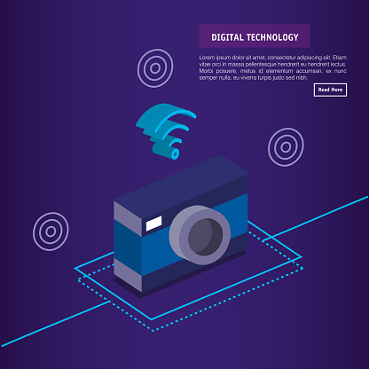 Digital Technology Isometrics Icons Stock Illustration - Download Image Now