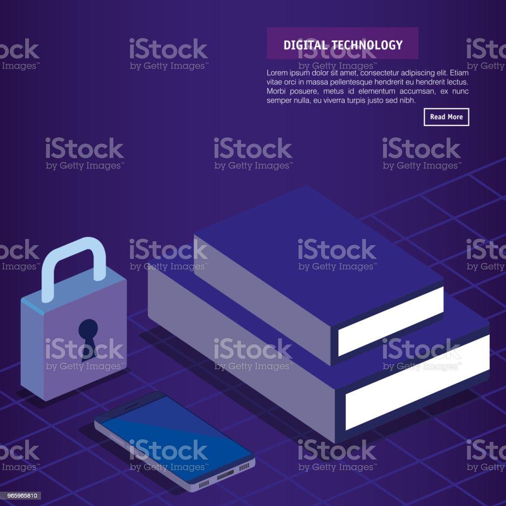 Digitaltechnik Isometrien Symbole - Lizenzfrei Analysieren Vektorgrafik