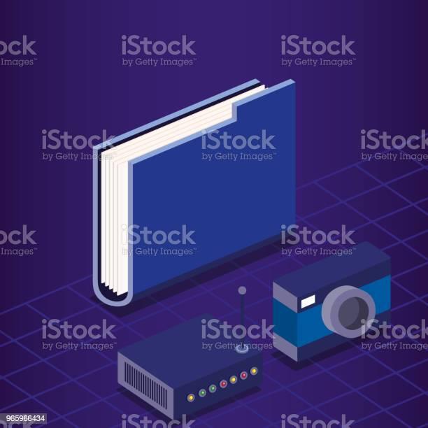 Digital Technology Isometrics Icons Stock Illustration - Download Image Now