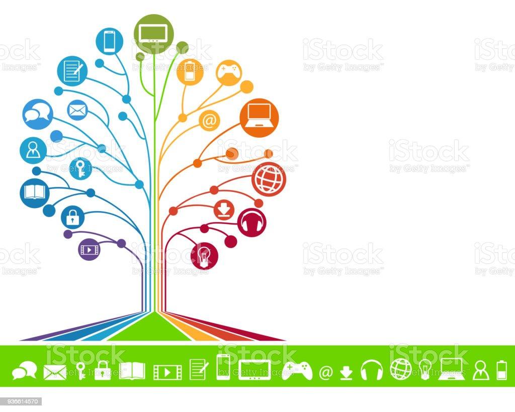 Digitale Technologie – Vektorgrafik