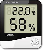 digital thermometer hygrometer humidity icon