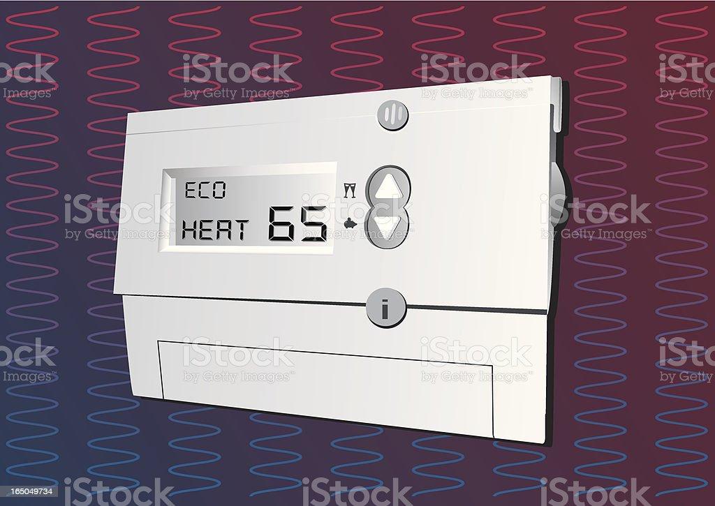 Digital Thermostat US royalty-free stock vector art