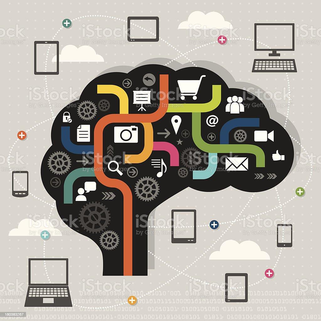 Digital Thinking royalty-free stock vector art