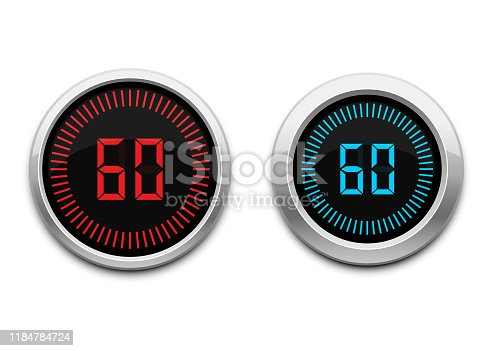 Beautiful vector design illustration of digital timer isolated on white background