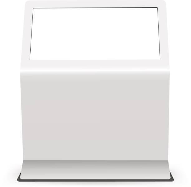digital touch screen mockup isoliert auf weißem hintergrund - berührungsbildschirm stock-grafiken, -clipart, -cartoons und -symbole