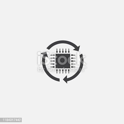 digital transformation base icon. Simple sign illustration. digital transformation symbol design. Can be used for web, print and mobile