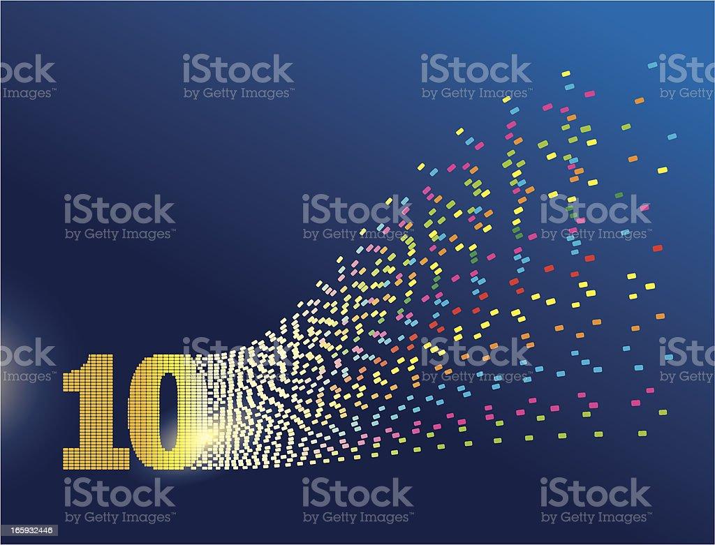 Digital Transformation Number Ten vector art illustration