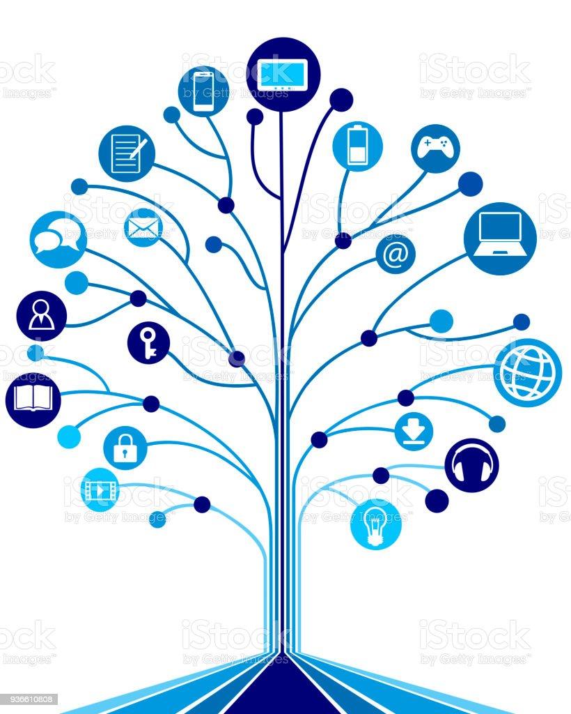 Digitalen Baum – Vektorgrafik