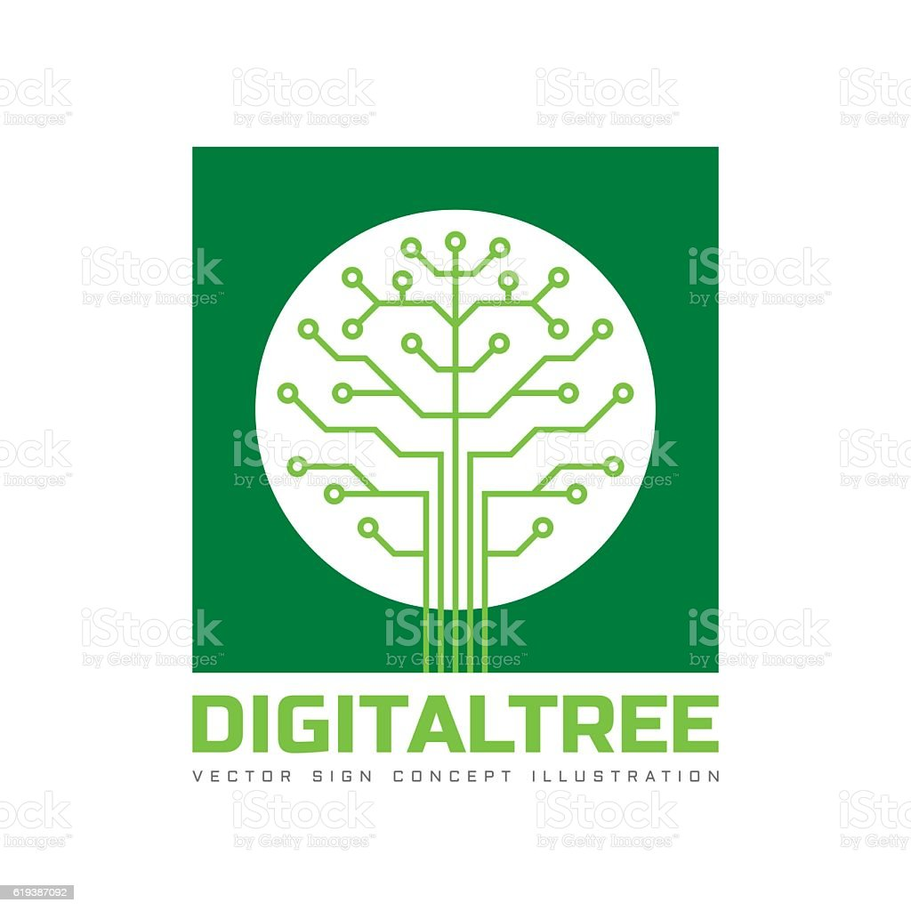 digital tree vector sign template concept illustration アイコンの