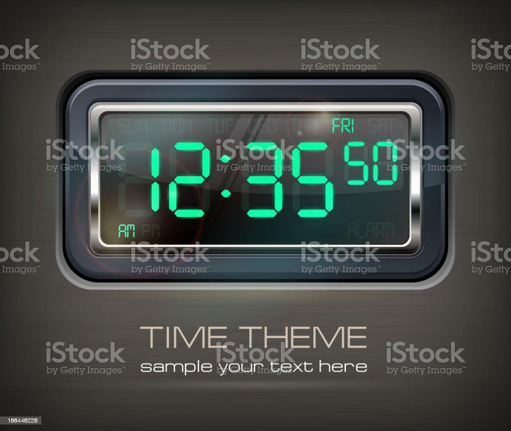 Digital watch & text royalty-free stock vector art