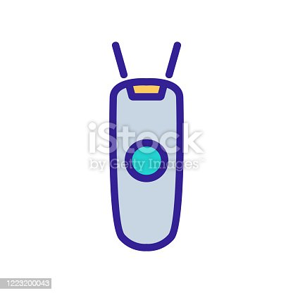 digital wireless barcode scanner icon vector outline illustration