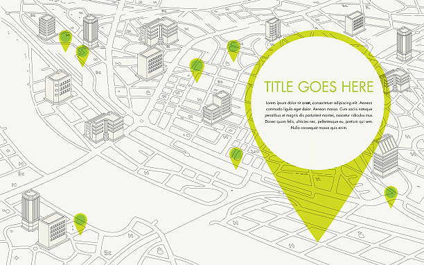 digitalised map - architecture clipart stock illustrations