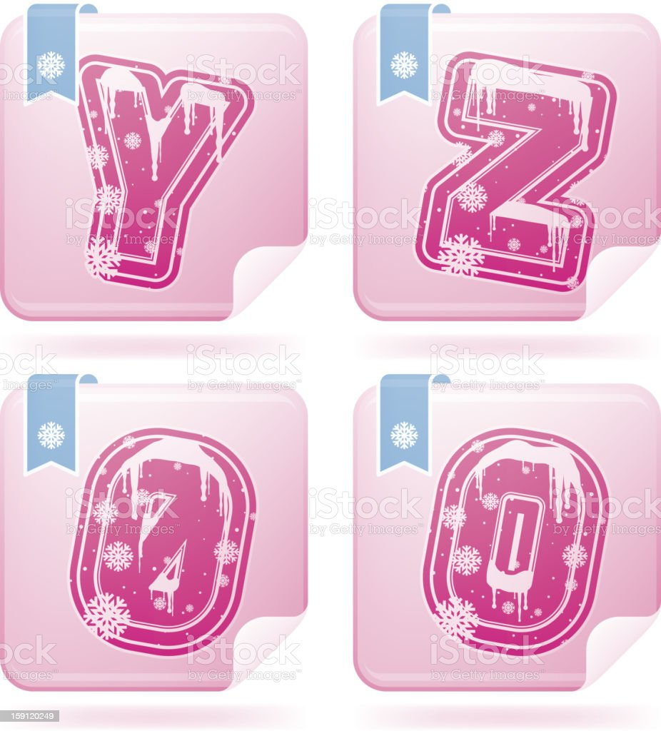 Digits & capital letters royalty-free digits capital letters stock vector art & more images of alphabet