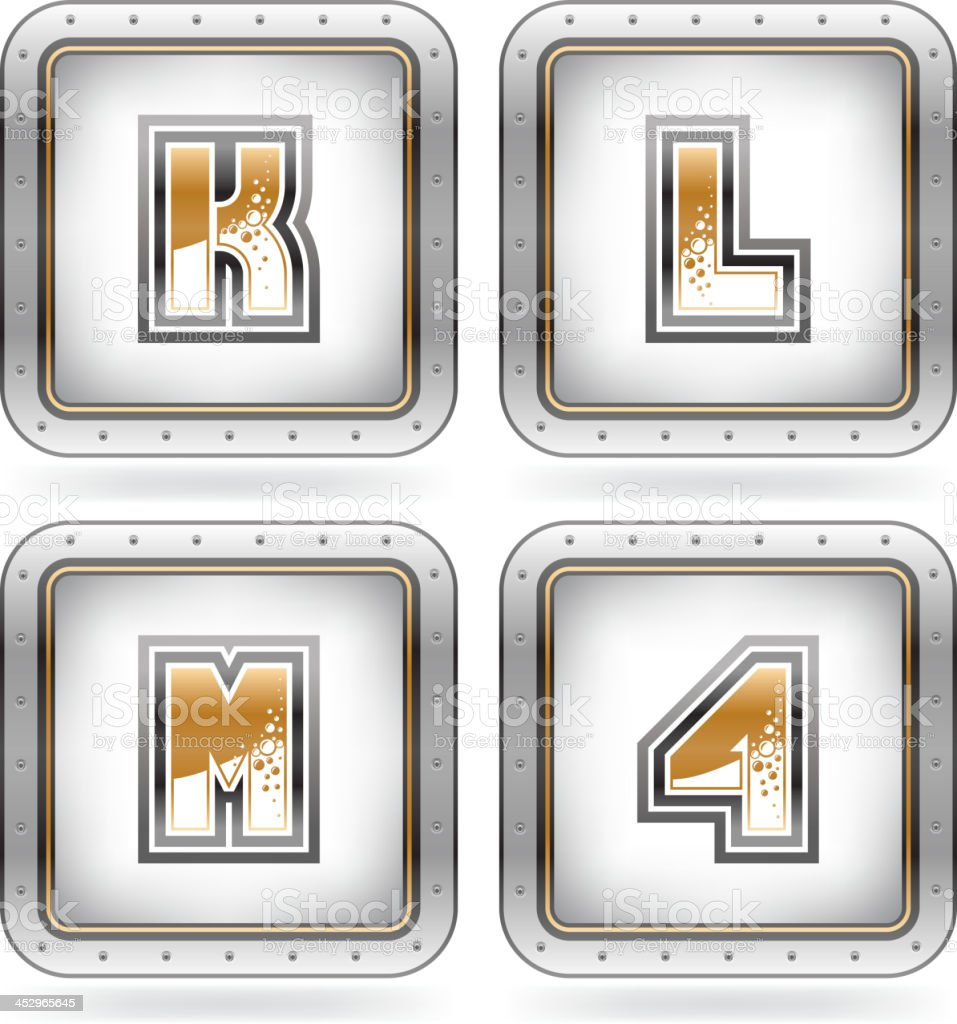Digits & capital letters royalty-free stock vector art