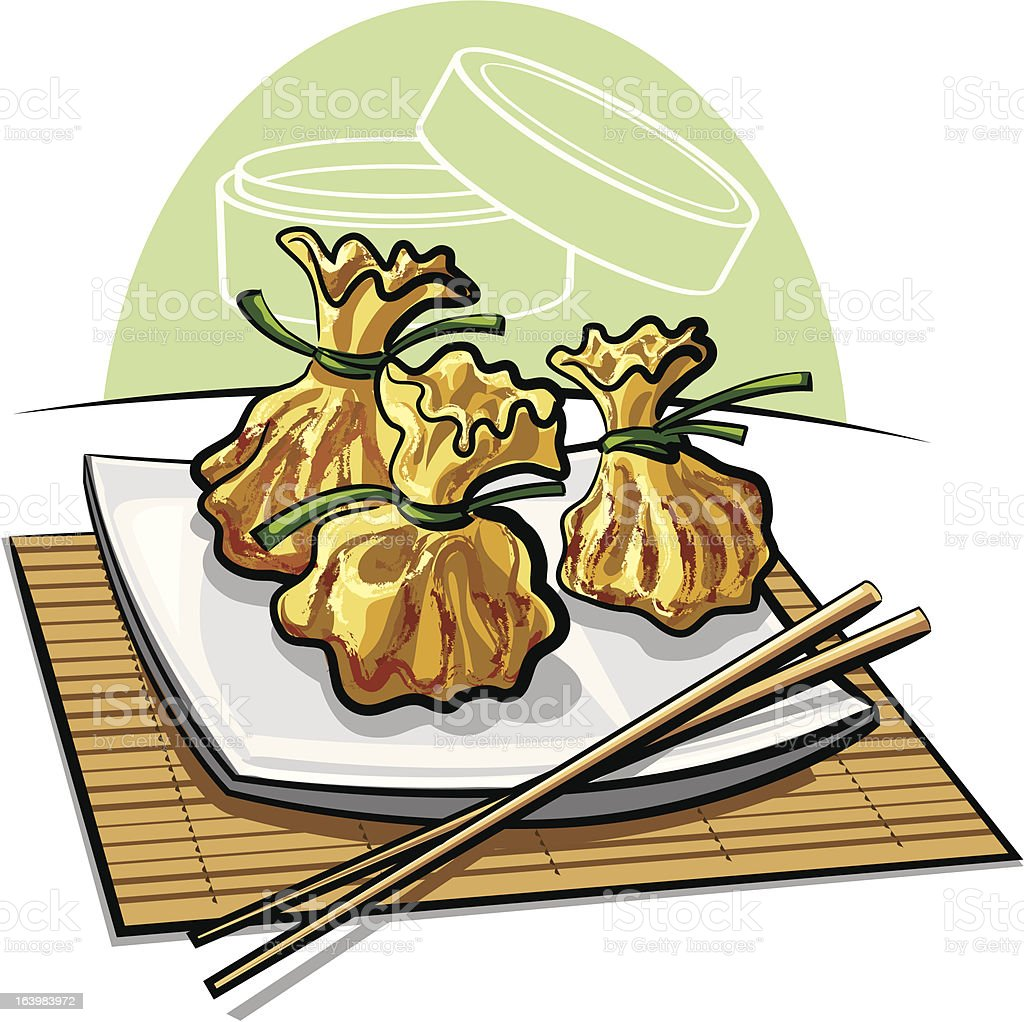 Dim sum royalty-free stock vector art