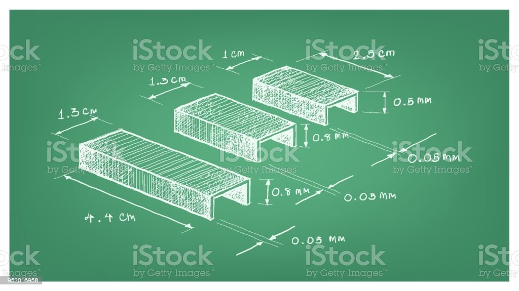 Dimension of staple strip or paper staples stock vector art more dimension of staple strip or paper staples royalty free dimension of staple strip or paper malvernweather Image collections
