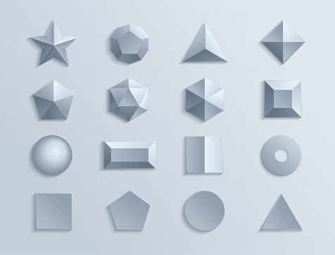 Dimensional geometric figures in set