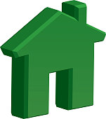 Dimensional House Icon