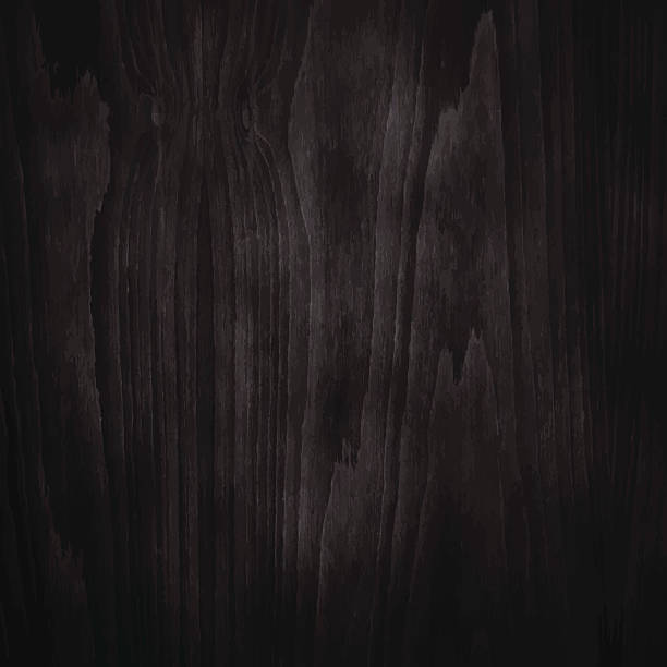 dimly lit dark wood texture background - wood texture stock illustrations