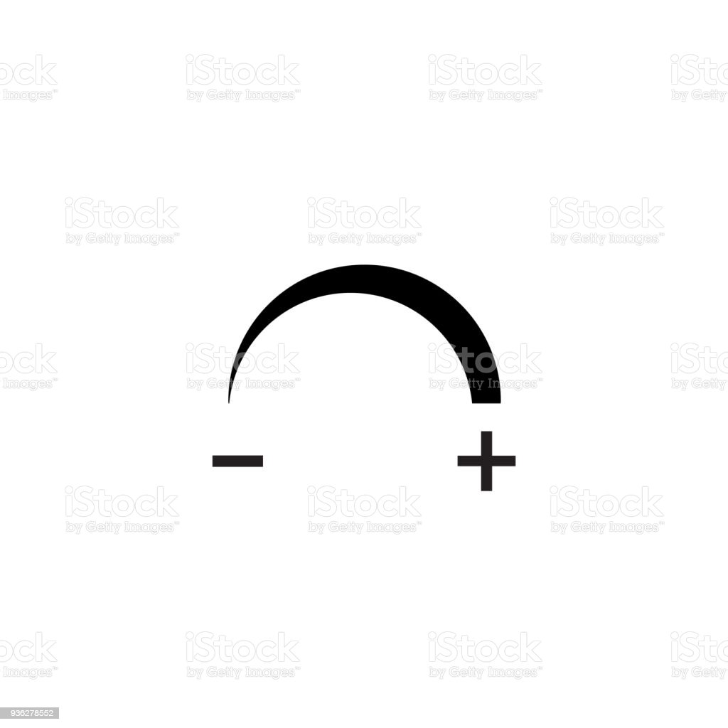 Dimmable Icon Icon For Led Light Vector Illustration Stock Vector