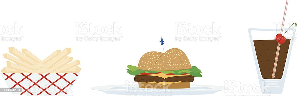 Diner Food royalty-free diner food stock vector art & more images of burger