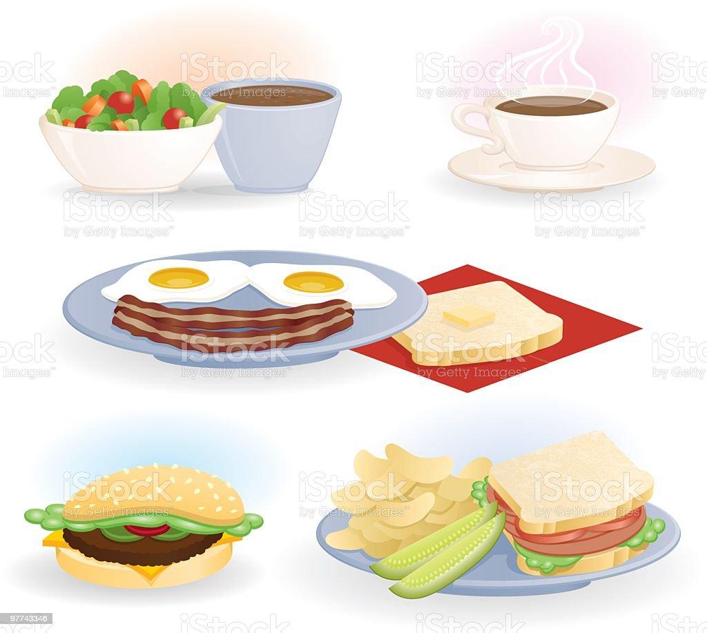 Diner Selections vector art illustration