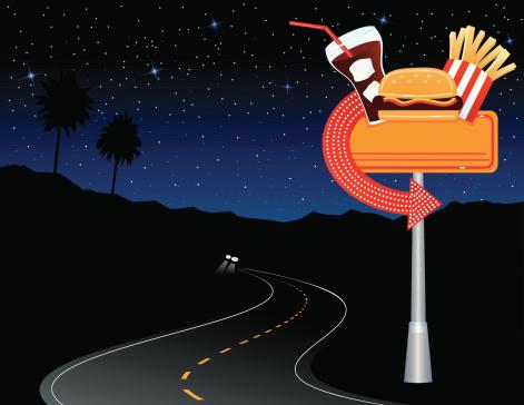 Diner Sign in Desert
