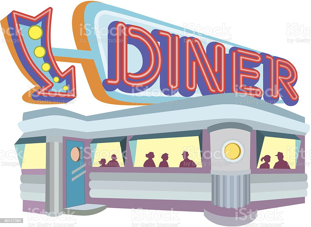diner.eps royalty-free dinereps stock vector art & more images of 1950-1959