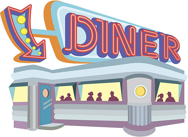 diner.eps vector art illustration